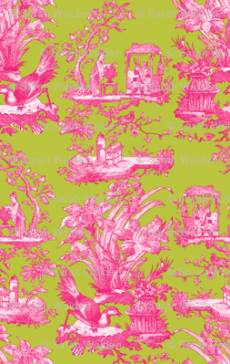 Chinoiserie Toile ~ Courtesan on Usurper