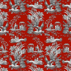 Chinoiserie Toile ~ Turkey Red