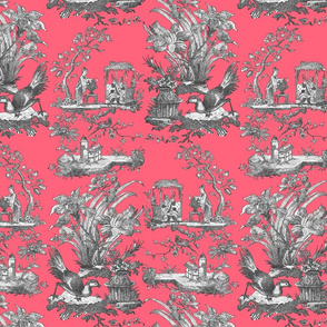 Chinoiserie Toile ~  Royal Scandal