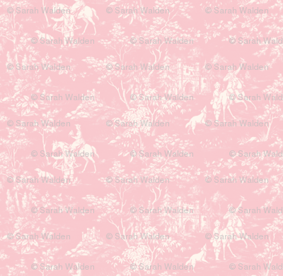 The Grand Hunt Toile ~ Dauphine and White