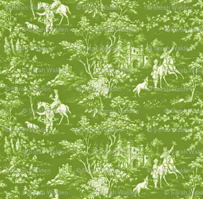 The Grand Hunt Toile ~ Bracken and White