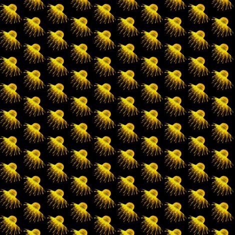 Daisy Flower Gold Yellow fabric by eve_catt_art on Spoonflower - custom fabric