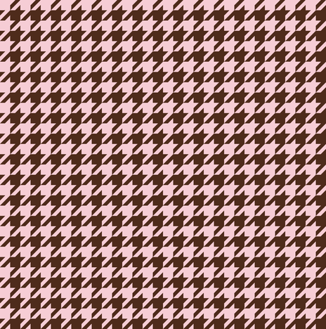 The Houndstooth Check ~ Pink & Brown ~ Wee  fabric by peacoquettedesigns on Spoonflower - custom fabric
