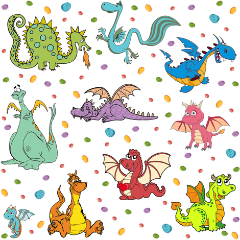 Dragons n Rocks fabric by parisbebe on Spoonflower - custom fabric