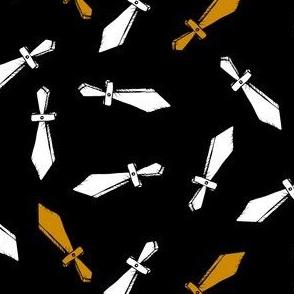 Toy Swords on Black