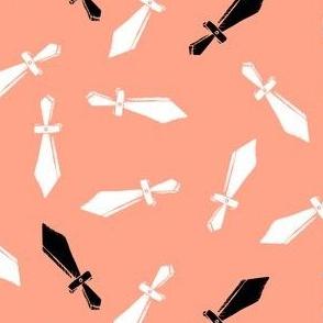Toy Swords on Peach