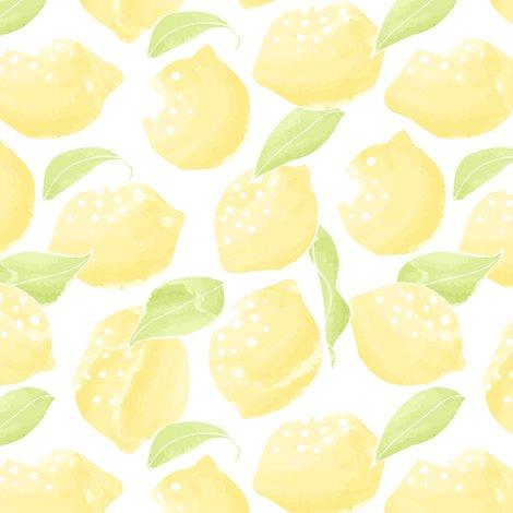 lemons on white fabric innamoreva spoonflower