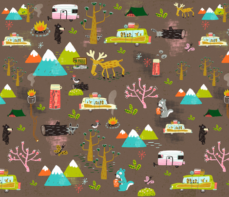 Kamp*out fever fabric by skbird on Spoonflower - custom fabric