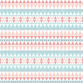southwest // minimal, lines, stripes, geometric, abstract, triangles, simple, nursery, pink, blue