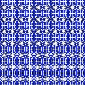 Windmills Blue White