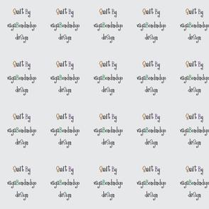 vagabondindigo design quilt tag - grey