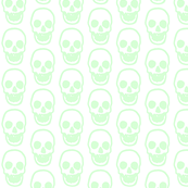 Light Sea Foam Green Skull Print