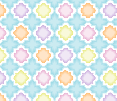 Watercolor_Lattice fabric by mia_valdez on Spoonflower - custom fabric