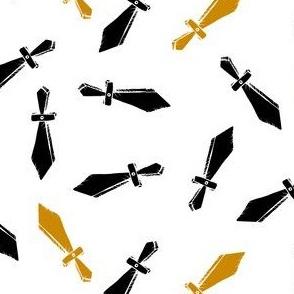 Toy Swords on White
