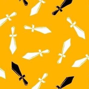 Toy Swords on Yellow