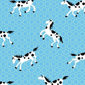 Spotted horses, on spots.blue