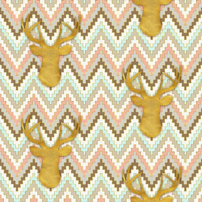 Chevron and Deer Mini