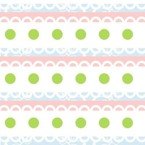 Cottage-lacey dot stripes