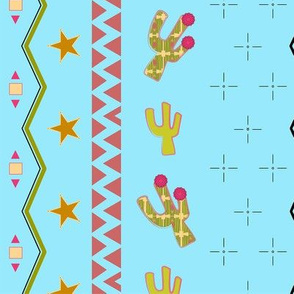 Southwest theme children's fabric