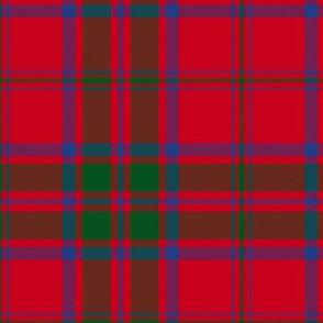 MacDonald red tartan - modern colors