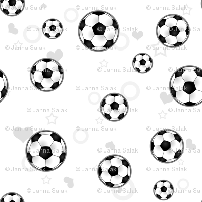 Soccer Ball Pattern White