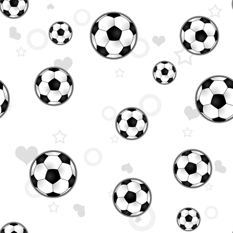 Soccer Ball Pattern White fabric by jannasalak on Spoonflower - custom fabric