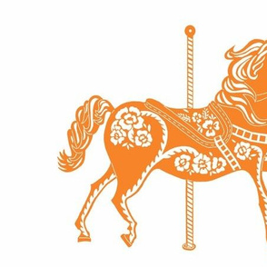 Carousel Horse in Outstanding Orange-ch