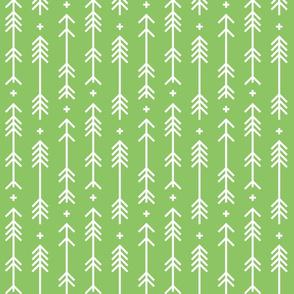 cross plus arrows apple green