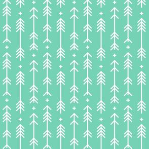 cross plus arrows sea foam green