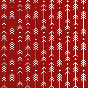 cross plus arrows dark red