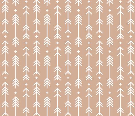 cross plus arrows toasted nut fabric by misstiina on Spoonflower - custom fabric