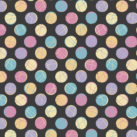 colorful_dots_black_back_nfs2015 fabric by nf_studio on Spoonflower - custom fabric