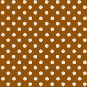Odd Dots - Golden Tan & Cream