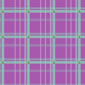 plaidypus-purple and mint