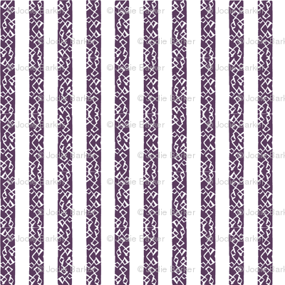 Buzz Stripe - Plum