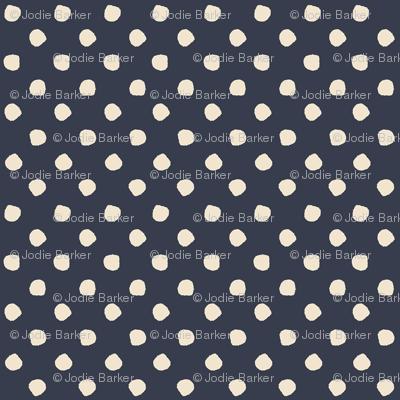 Odd Dots - French Navy & Cream