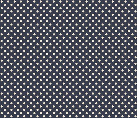 Odd Dots - French Navy & Cream fabric by jodiebarker on Spoonflower - custom fabric