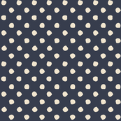 Odd Dots - French Navy & Cream