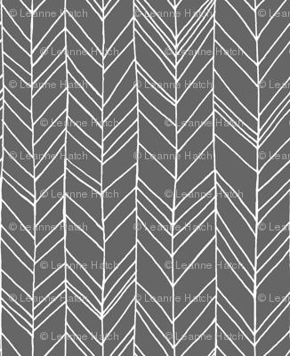Featherland Gray/White LARGE