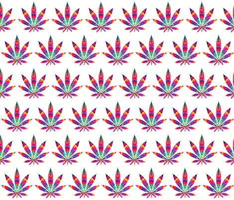 leaf of acid fabric by dazeddandelion on Spoonflower - custom fabric