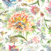 water color floral pattern