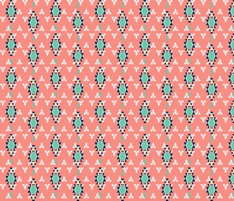 Southwestern Coral fabric by katebillingsley on Spoonflower - custom fabric