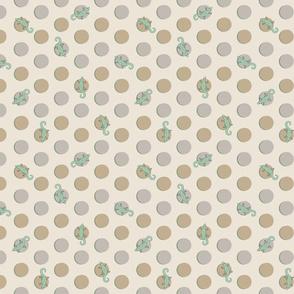Southwestern polka dot - sand