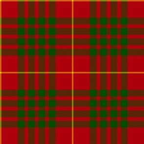 "Cameron tartan, 4"" red/green"
