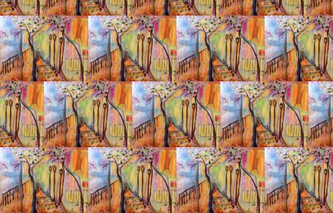 Art decor landscape fabric by myartself on Spoonflower - custom fabric