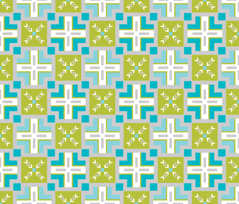 Frozen City Blues Traversal fabric by inscribed_here on Spoonflower - custom fabric