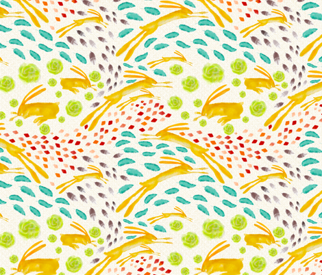 Southwest Rabbit fabric by mainsail_studio on Spoonflower - custom fabric