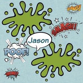 Poof Smash Bubble -LARGE personalized JASON