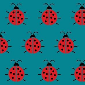 Ladybug teal