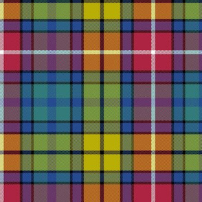 "Buchanan Ancient tartan - 6"" cool modern colors"